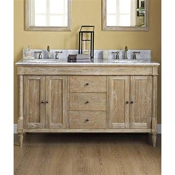 weathered oak bathroom vanity fairmont designs rustic chic 60 quot vanity double bowl