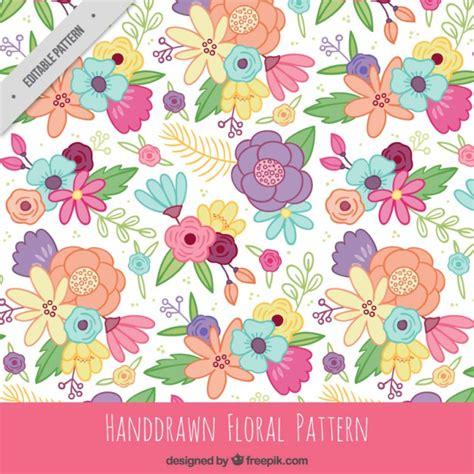 flower pattern freepik hand drawn flowers pattern vector free download