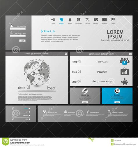 eps format web clean modern website template royalty free stock image