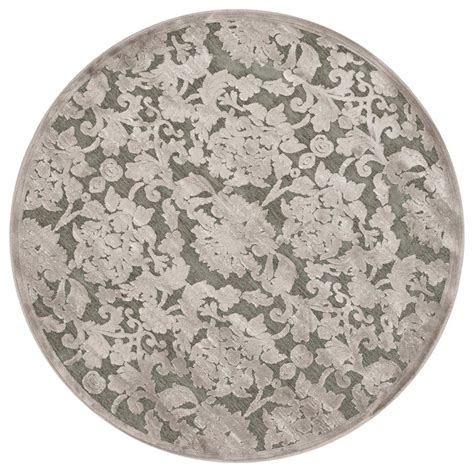 Grey Chenille Rug by Taupe Grey Floral Chenille Rug 3 10