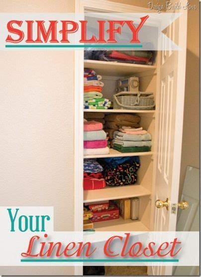 linens how to simplify and linen closets on
