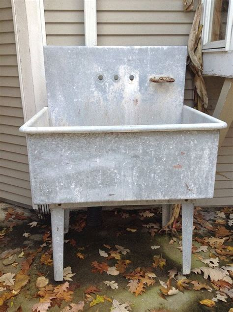 galvanized vintage sink