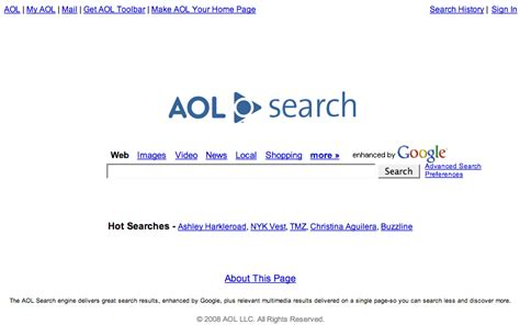 Aim Search Comparing Search Engine Privacy Policy Visibility Michaelzimmer Org