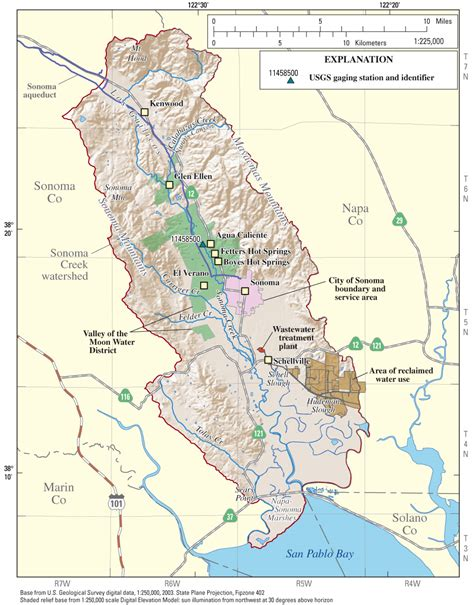 sonoma valley map usgs california water science center water resources