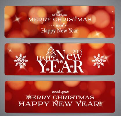 new year banner 2015 2015 new year and merry banner free vector