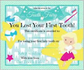 Certification Letter Lost tooth fairy certificate for first lost tooth tooth fairy certificate