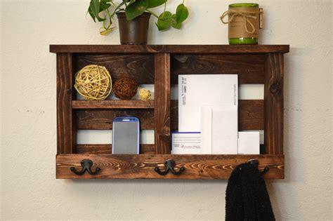 entryway wall organizer entry organizer wall shelf key hooks phone by rusticmoderndecor