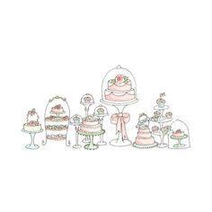 doodle makanan cupcake logos and cupcake shops on