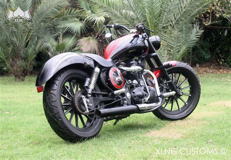 Bike Headlight Modification In Delhi by Royal Enfield 2003 Electra Choper Xlnc Customs 350cc