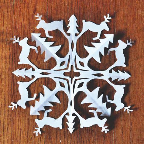 deer snowflake printable template zauberbear reindeer snowflake pattern