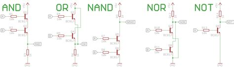 transistor nor gate with a fistful of transistors 1 back to the basics justgeek de