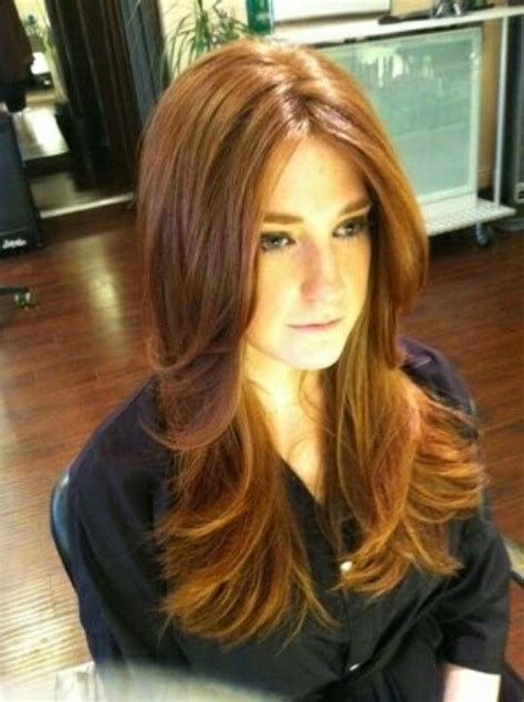 lots of layers fo hair copper red hair and lots of layers ginger love