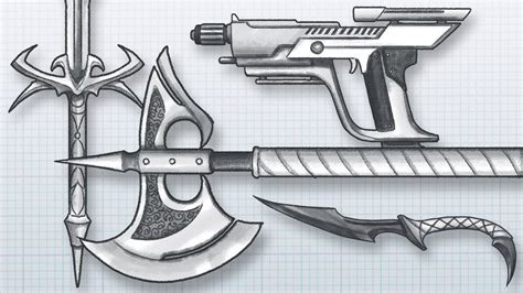 doodle how to make weapon how to design awesome weapons draw your own guns swords