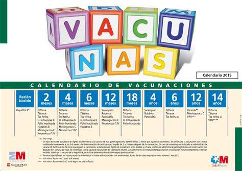 Calendario T C 2015 La Enfermer 237 A De Mi Cole Calendario De Vacunaci 243 N Madrid 2015