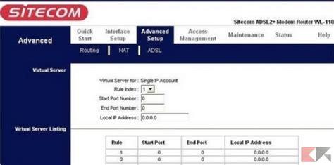 aprire porte router sitecom come aprire le porte router port forwarding