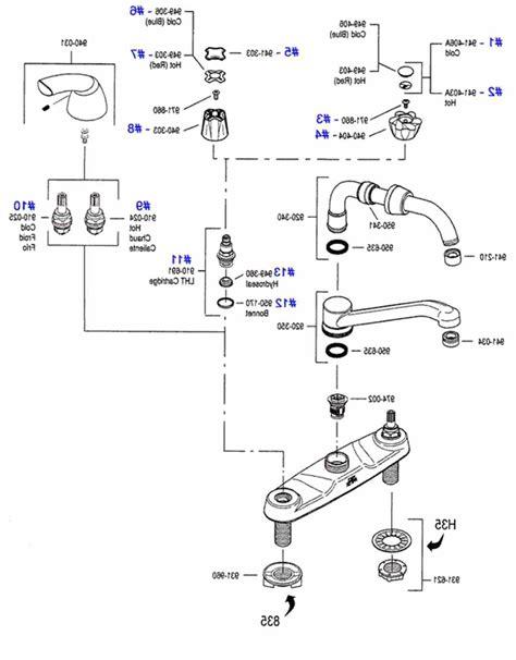 price pfister kitchen faucet parts diagram