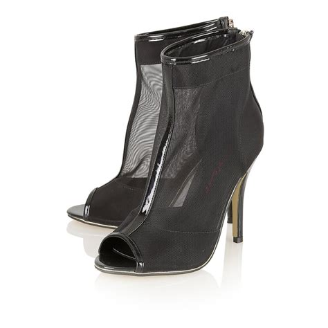 buy dolcis apatite mesh peep toe shoe boots black