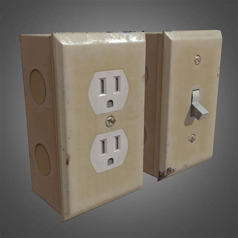 electrical outlet template 3d obj electrical outlets ready pbr