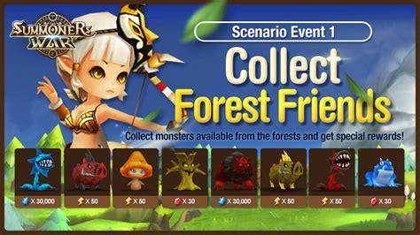 Garden Event Summoners War Event Scenario Event 1 Quot Collect Forest Friends