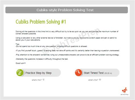 test problem solving cubiks problem solving test practice preparation
