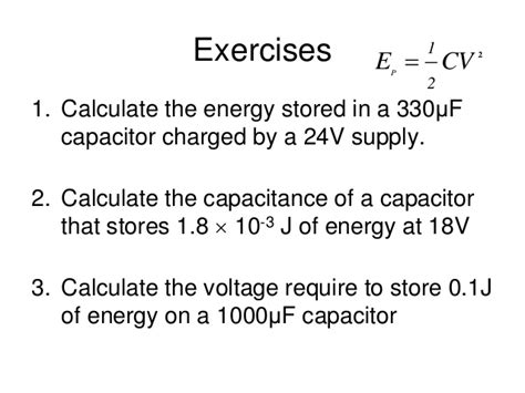 calculate the amount of energy stored in the capacitor calculate the energy stored in a capacitor when it is charged to a potential of 28 images