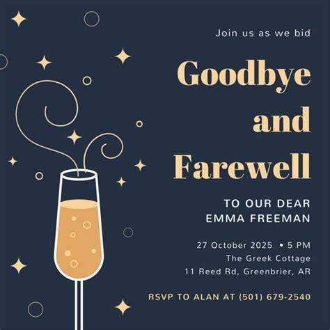customize 103 farewell invitation templates