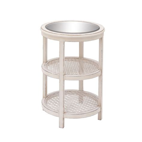 elegant accent tables saapni com elegant wood mirror metal white accent table 44421