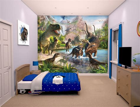dinosaur wallpaper for bedroom walltastic dinosaur land kids wall mural bubs n grubs