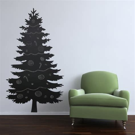 christmas tree chalk board wall decal sticker by