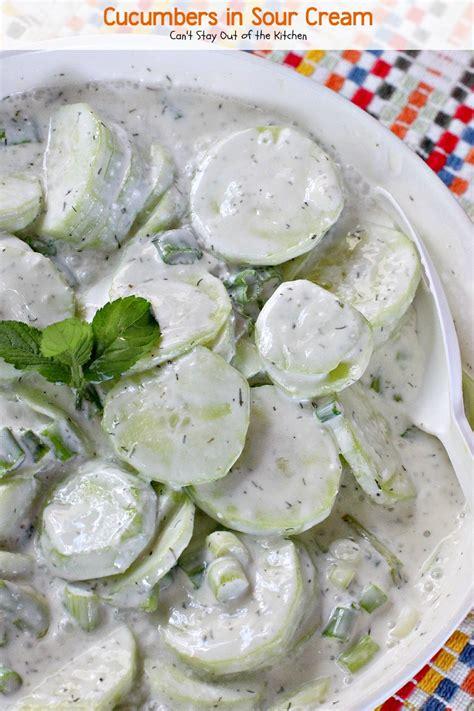 cucumber recipe cucumber salad sour cream vinegar sugar