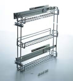 Kitchen Cabinet Sliding Racks by 3 Inch Pullout Kitchen Spice Rack Cabinet Pull Out