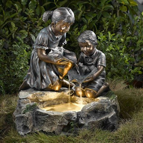 backyard statues water fountain pictures and ideas