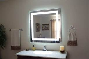 bathroom vanity mirrors with lights admirable wall mirror with lights ideas decofurnish