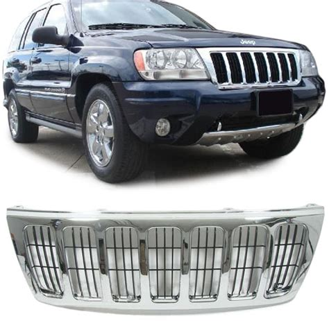 03 Jeep Grand Parts Jeep Grand 99 03 Chrom Grill K 220 Hlergrill Ebay