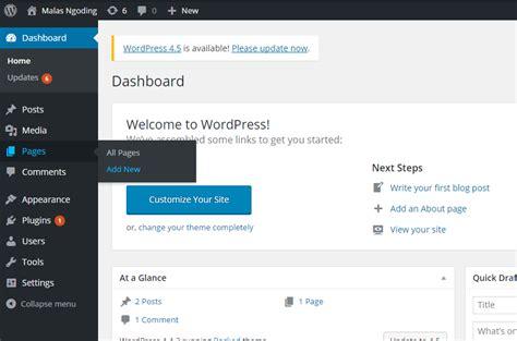 membuat halaman pada wordpress belajar wordpress part 7 cara membuat halaman pada