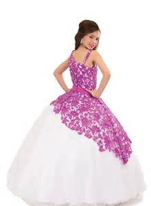 Dresses for junior girl pageant gowns purple flower girl dresses peach