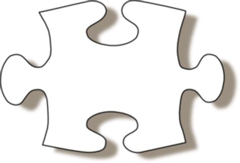 Jigsaw White Puzzle Piece W Shadow Md Free Images At Puzzle Pieces Printable