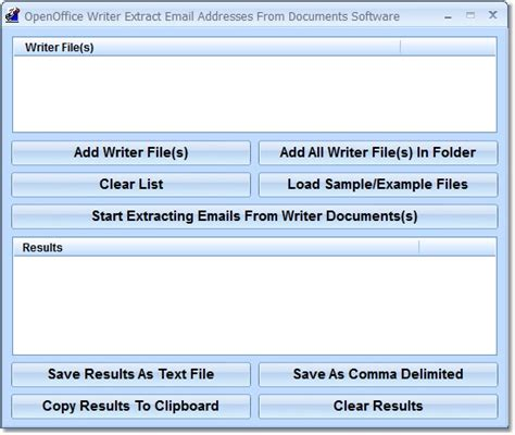 Openoffice Writer Outline View by Openoffice Writer Extract Email Addresses From Documents Software 7 1 This Software