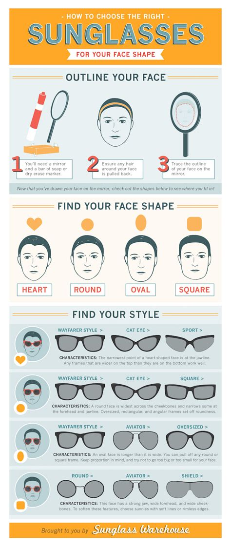how to choose glasses the this chart helps you choose the best sunglasses for your