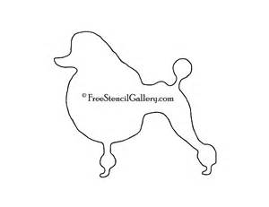 poodle template poodle silhouette stencil free stencil gallery