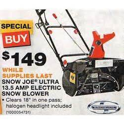 black friday deals on snowblowers snow joe ultra 13 5 amp electric snow blower at home depot