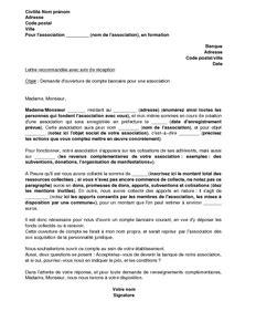Demande De Relevé Bancaire Lettre Lettre De Demande D Ouverture D Un Compte Bancaire Par Une Association En Formation Mod 232 Le De