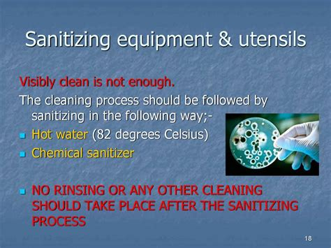 cleaning  disinfection   kitchen chapter