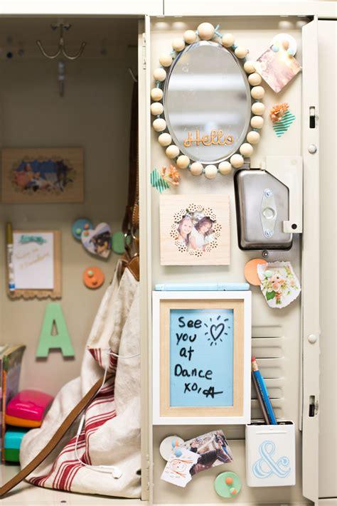 Cute Locker Decorations Diy Locker Decorations Mirror Bulletin Board Flax Amp Twine