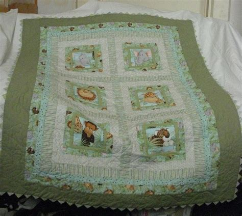 Jungle Baby Quilt by You To See Quot Jungle Babies Quot Crib Quilt On Craftsy