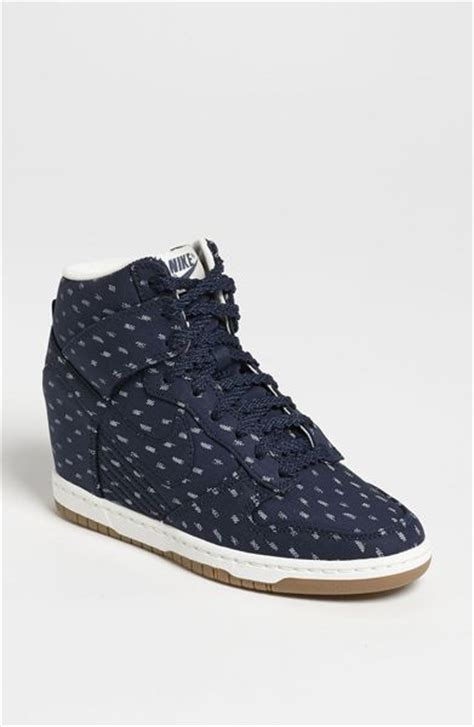 nike wedge sneakers nordstrom nike dunk sky hi wedge sneaker in obsidian