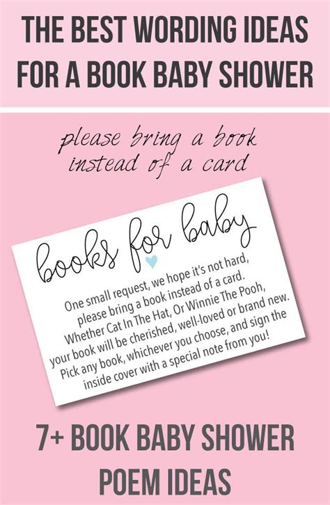 Bring A Book Instead Of A Card Baby Shower Templates by 7 Wording Ideas For A Quot Books For Baby Quot Quot Bring A
