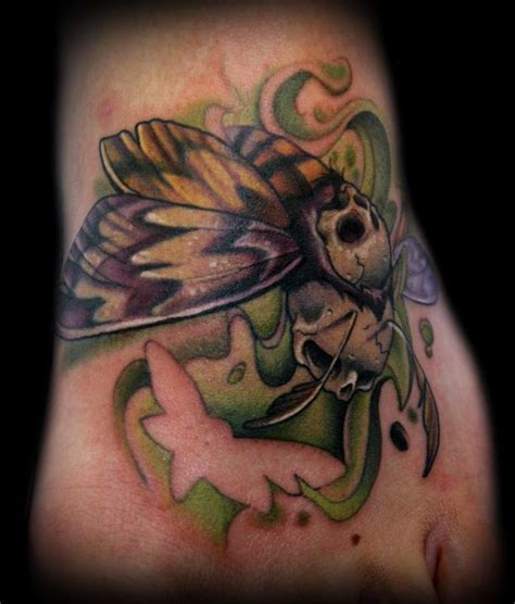 death moth tattoo s moth by doty tattoos