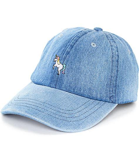 Denim Hat empyre solstice unicorn denim baseball hat