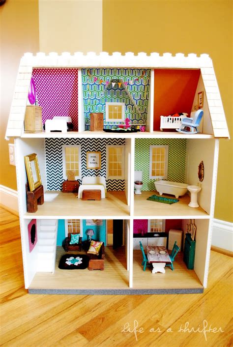 diy dollhouse as a thrifter dollhouse details diy wall